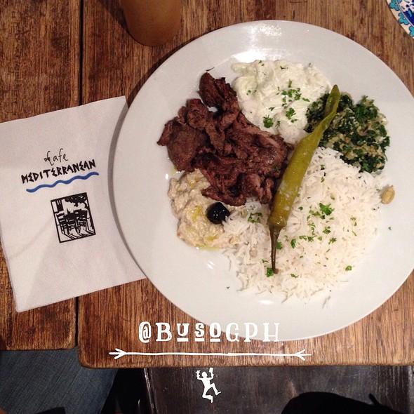 Beef Gyro Plate @ Cafe Mediterranean
