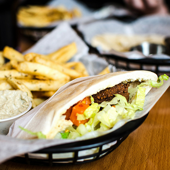 Falafel Sandwich @ Falafels Flavors From Jerusalem