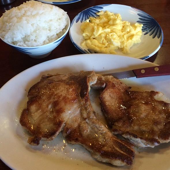 Pork Chops, Eggs & Rice @ Manago Hotel
