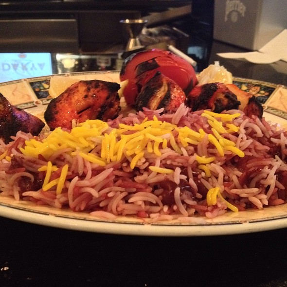 Chicken Kabobs With Cherry Rice - Darya Restaurant, Santa Ana, CA