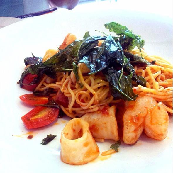 Spicy Seafood Spaghetti @ S&P Sukhumvit 49