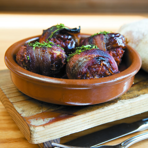 Bacon-wrapped, Chorizo-stuffed Medjool Dates @ Avec Restaurant