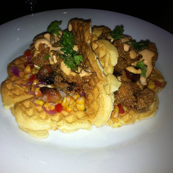 Chicken and Waffles @ The Stubborn Goat