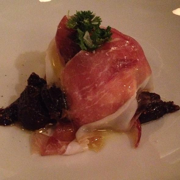 Burrata With Speck, Figs And Rosemary Oil - Sportello, Boston, MA