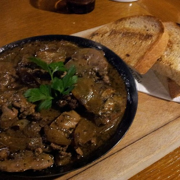 Duck Livers In A Cast Iron Pan