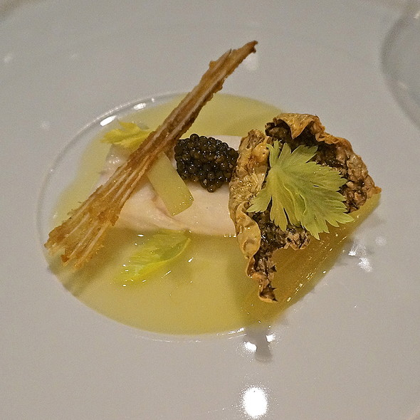 Rhode Island fluke, royal white sturgeon caviar, beurre blanc, celery - Menton, Boston, MA