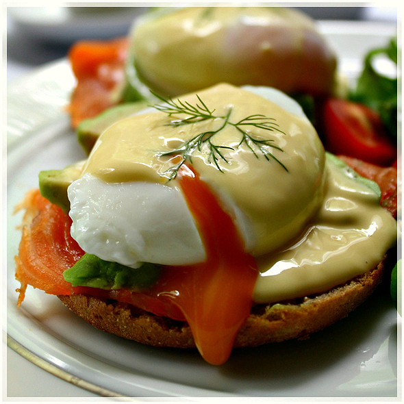 Smoked Salmon Eggs Benedict @ Maya's Kitchen