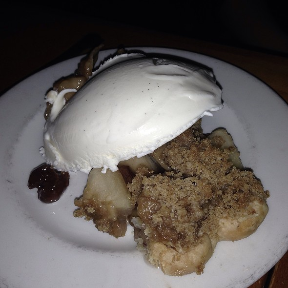Apple And Red Cherry Crumble