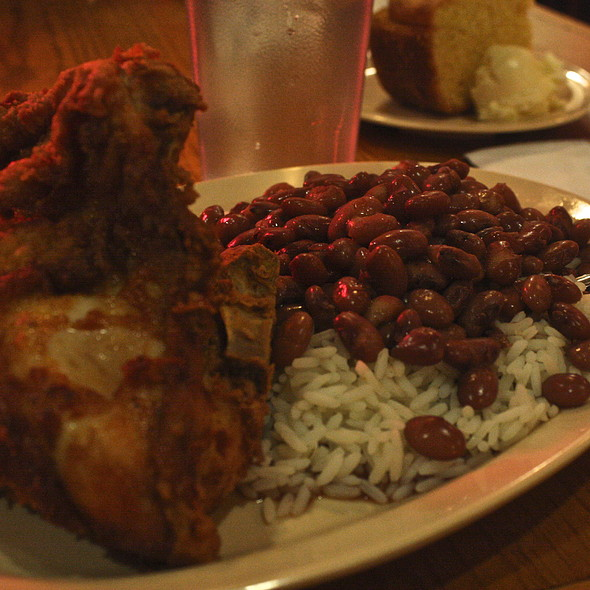 Fried Chicken With Red Beans And Rice
