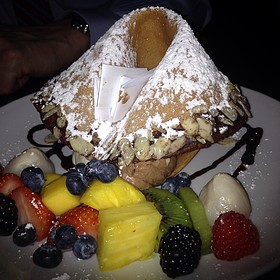Giant Fortune Cookie with white and dark chocolate mousse