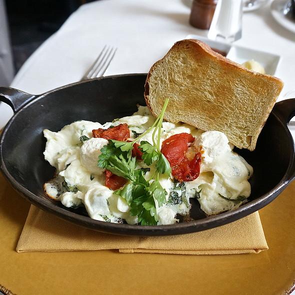 Egg whites, oven-cured tomato, Vermont Creamery goat cheese, basil frittata - Mistral - Boston, Boston, MA