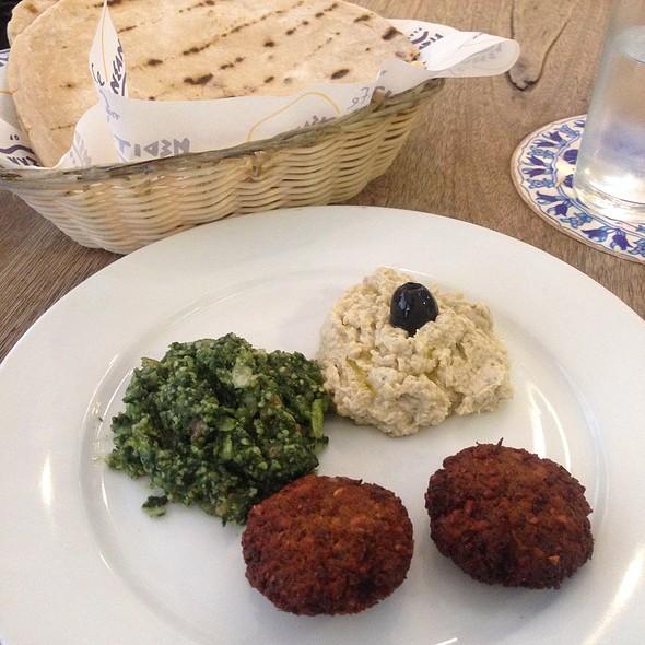 Babaganoush, Falafel, Tabouli Sampler @ Cafe Mediterranean