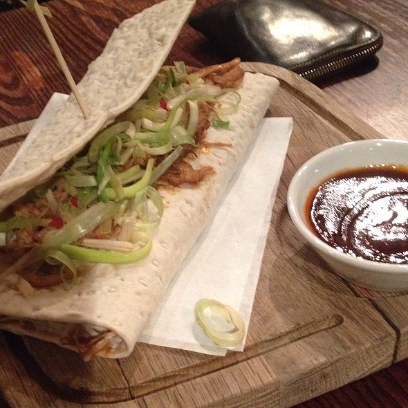 Pulled Pork Wrap @ The Speckled Hen