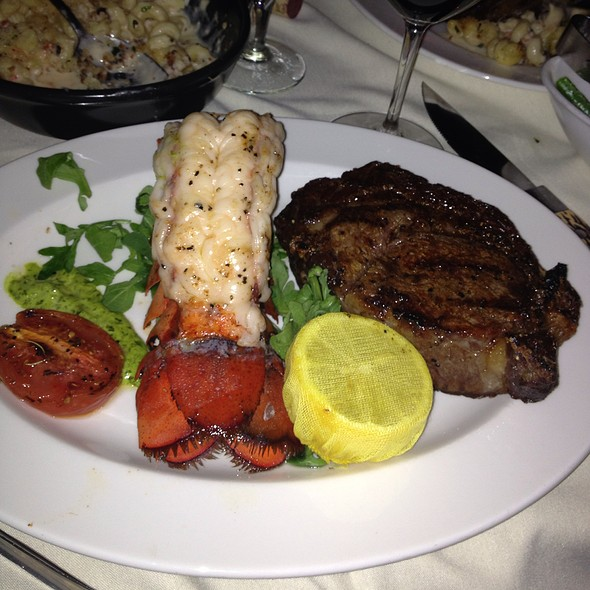 Dry Aged Bone In Ribeye And 16 Oz Lobster Tail - Halls Chophouse, Charleston, SC