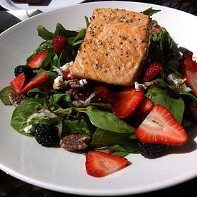 Salmon Wild Berry Salad - Outrigger, Toronto, ON