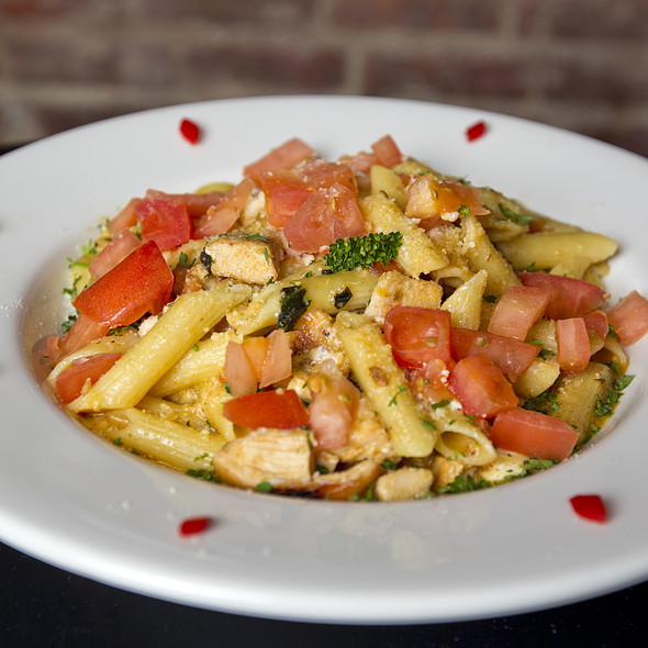 Penne Pasta with Grilled Chicken @ Houndstooth Pub