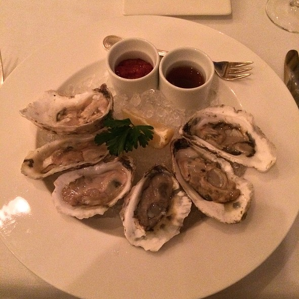 Oysters on the Half Shell - TJ's at The Jefferson Hotel, Richmond, VA