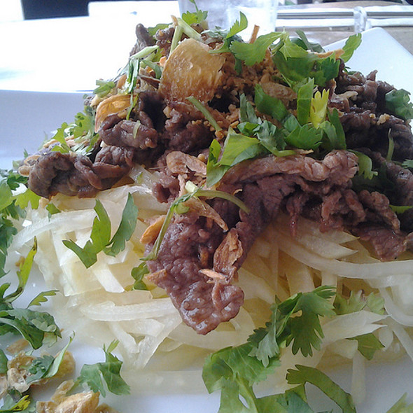 Papaya salad with grilled beef  @ Basilic Vietnamese Grill LLC