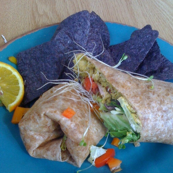 Curry Salmon Wrap @ Pure And Simple Cafe