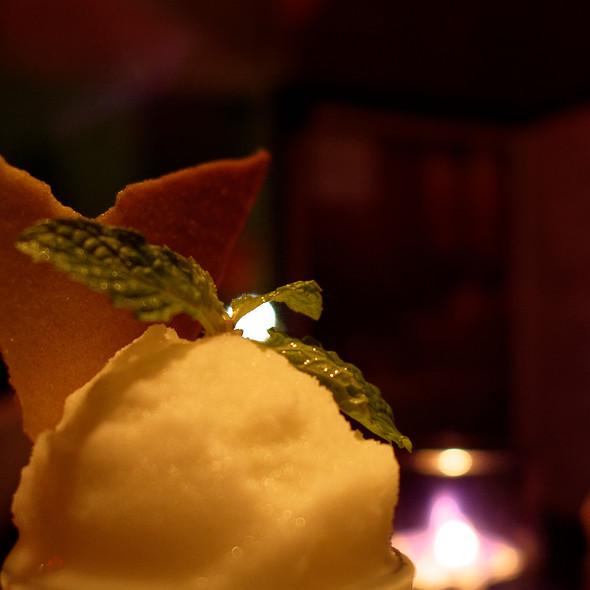 Lemon Sorbet @ Negev Restaurant
