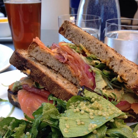 Cold Smoked Salmon Sandwich - Thomas Hill Organics, Paso Robles, CA