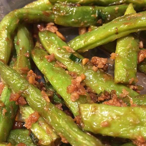 Green Beans With Minced Pork @ Ding Tai Fung