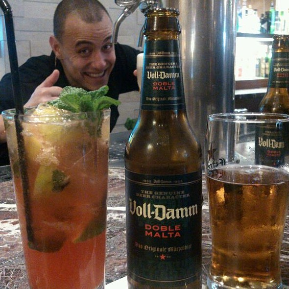 #beer Voll Damm & Raspberry Mojito