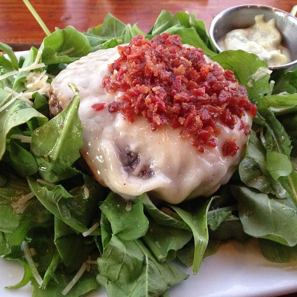 Goombah Burger Protein Style (On Arugula Salad)