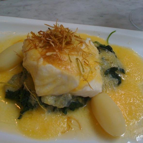 coeur de cabillaud poché Florentine @ restaurant de l'Ogenblik