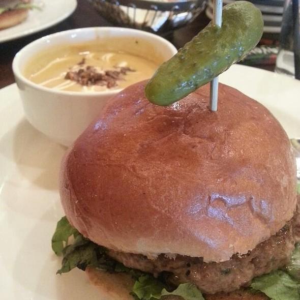 Lamb Burger & Butternut Squash Soup @ Doolittles Woodfire Grill