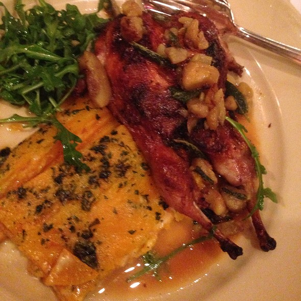 Stuffed Quails - Chez Panisse Cafe, Berkeley, CA