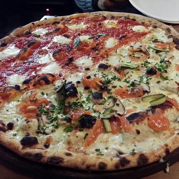 Half Pea And Salmon Half Margarita  @ Homeslice Pizza