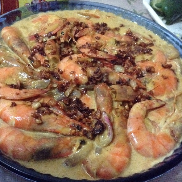 Shrimp With Creamy Garlic Sauce @ Home