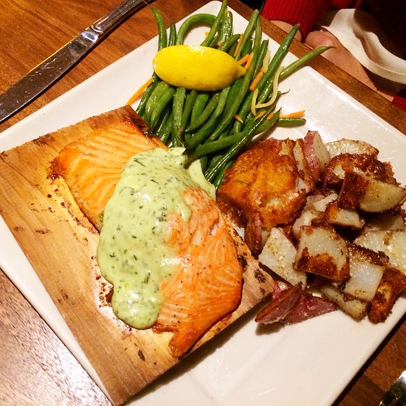 Cedar Plank Alaskan Salmon - BeachHouse bar + grill, Kirkland, WA