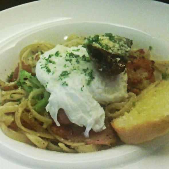 Sardine, Bacon And Poached Egg Pasta @ Charqoal Bistro And Bar