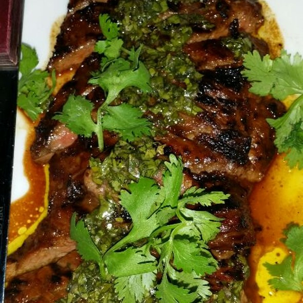 Skirt Steak with Chimichurri Sauce @ The Chester
