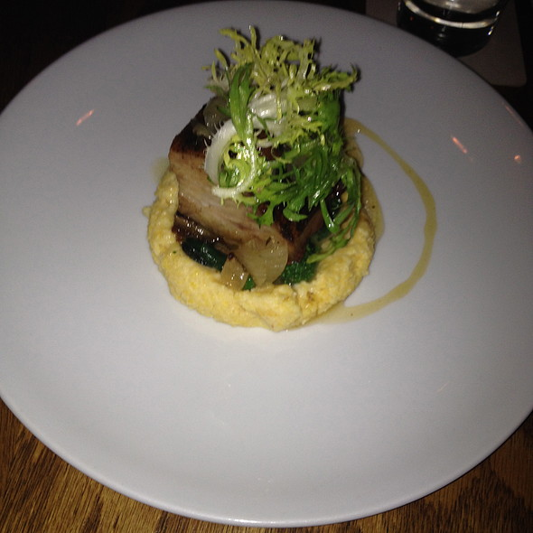 Pork Belly, Cheese Grits & Broccoli Rabe - The Portage, Chicago, IL