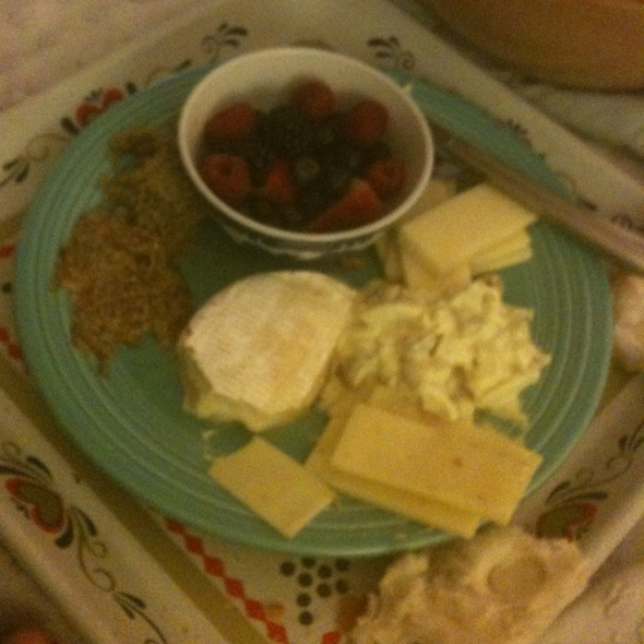 Fruit, Cheese And Crusty Bread  @ Casa Del Twinkle