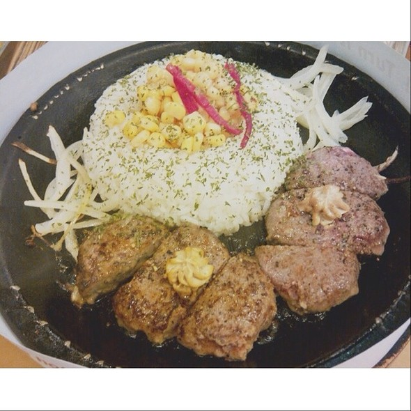 Curry Rice With Double Hamburg Steak @ Pepper Lunch