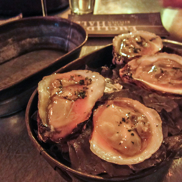 Blue Point Oysters with Pink Lemonade Mignonette