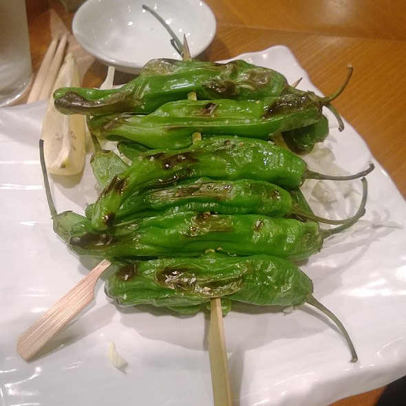 Shishito Pepper Skewers - Tsunami Restaurant - Sugarhouse, Salt Lake City, UT