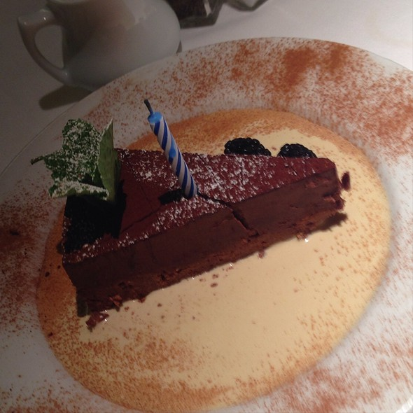 Crunchy Chocolate Truffle Cake With Creme Anglaise - Traxx, Los Angeles, CA