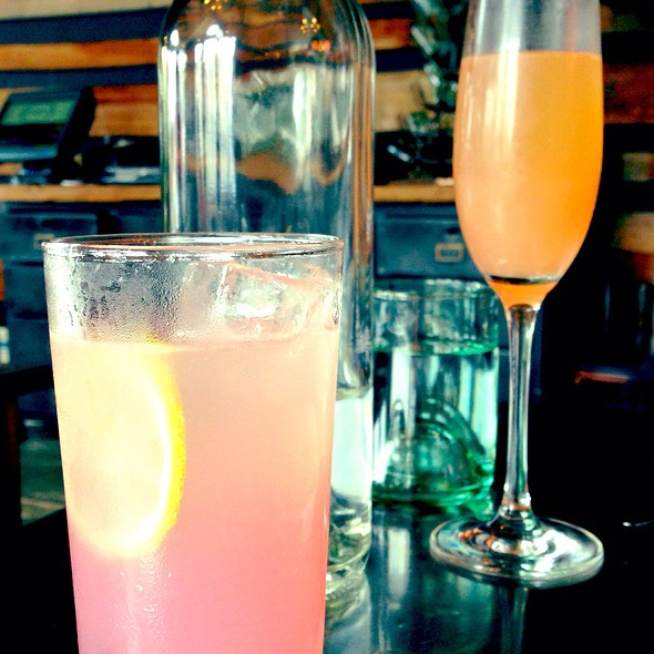 Jerry Thomas And Grapefruit Mimosa - TOAST kitchen+bar, Oakland, CA