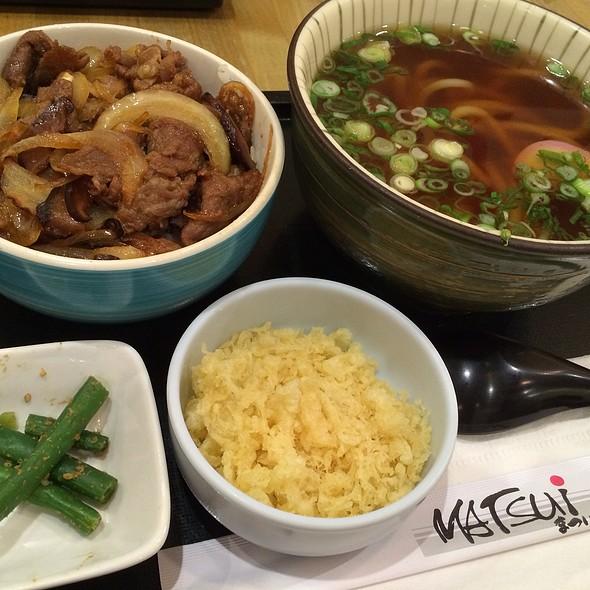 Pork Miso Combo @ Matsui