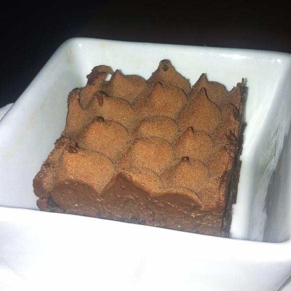 Spicy Chocolate Cake, Exotic Fruit Mousse - Mechant Boeuf Bar & Brasserie, Montréal, QC