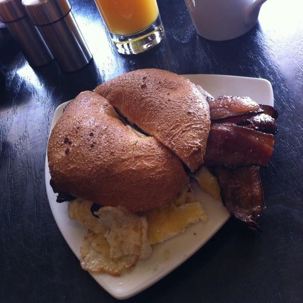 Bagel Sandwhich @ Terra Cafe
