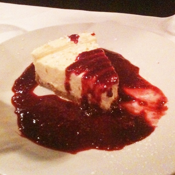 Cheescake With Raspberry Coulis - The Funky Door, Lubbock, TX