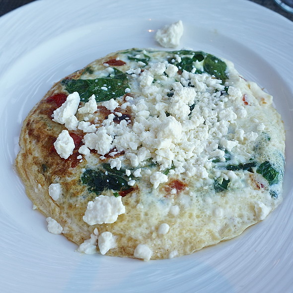 Egg-white breakfast frittata, spinach, tomatoes, grilled peppers, feta cheese - Chandler's - Cape Rey Carlsbad, a Hilton Resort, Carlsbad, CA