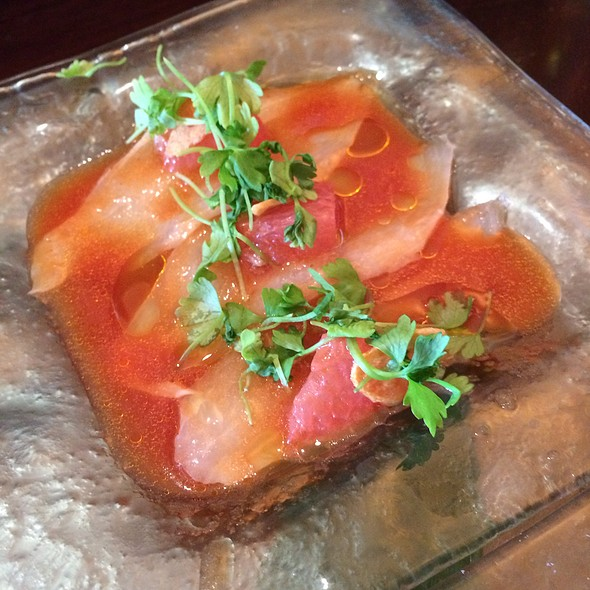 Cobia With Grapefruit Rocoto Chili And Garlic @ Sushi Samba Dromo
