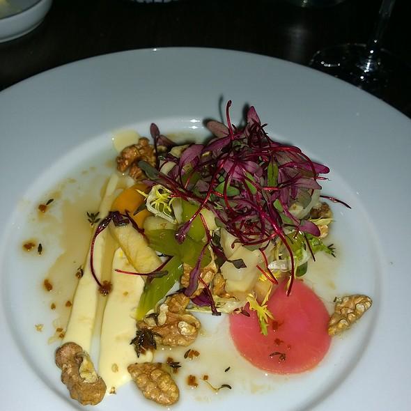Winter Salad of Baked Celeriac, apple, pickled celery and toasted walnut - Blink Restaurant, Calgary, AB